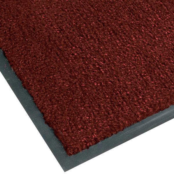 "Teknor Apex NoTrax T37 Atlantic Olefin 434-332 3' x 5' Crimson Carpet Entrance Floor Mat - 3/8"" Thick"