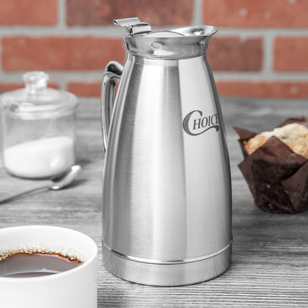 Choice 27 oz. Stainless Steel Insulated Thermal Coffee Server