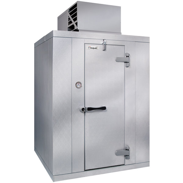 "Kolpak QS7-068-FT 6' x 8' x 7' 6"" Indoor Walk-In Freezer with Aluminum Floor"