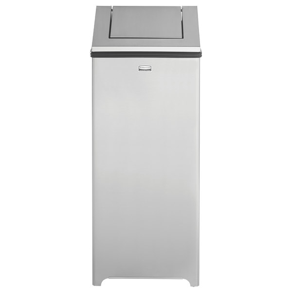 rubbermaid fgt1424ssrb wastemaster stainless steel swing top 24 gallon trash can