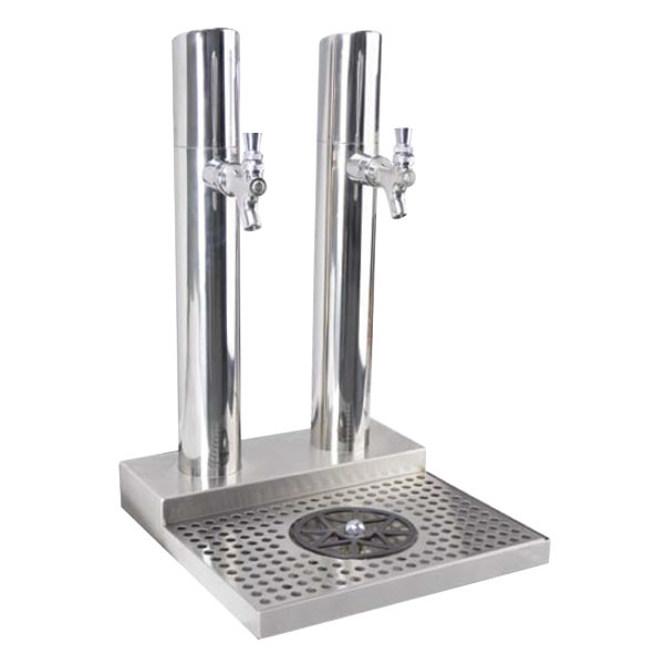Micro Matic BS-SKY-2PSSKR Skyline Stainless Steel Kool-Rite Glycol Cooled 2  Tower, 2 Tap Station with Glass Rinser