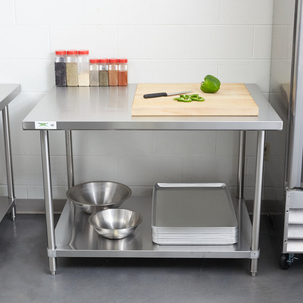 commercial kitchen work tables drawers regency gauge stainless steel table gridmann prep