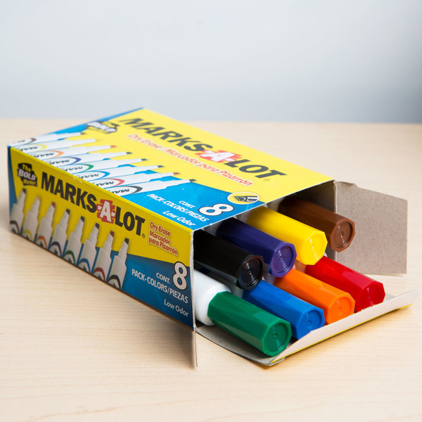 avery marksalot chisel tip desk style dry erase marker color assortment 8box