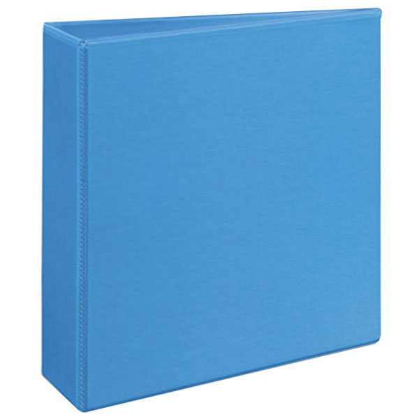 avery 5601 light blue heavy duty non stick view binder with 3 slant