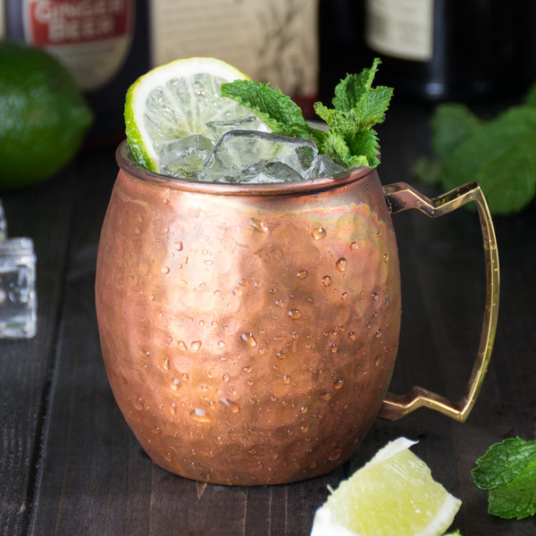 antique copper moscow mule mug with antique hammered copper finish - Mule Mug