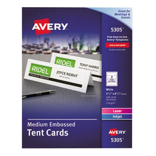 avery 5305 2 1  2 u0026quot  x 8 1  2 u0026quot  white medium embossed tent