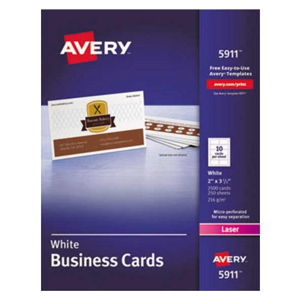 Avery 5911 2 x 3 12 uncoated white microperf business card 2500 avery 5911 2 x 3 12 uncoated white microperf business card 2500pack reheart Gallery