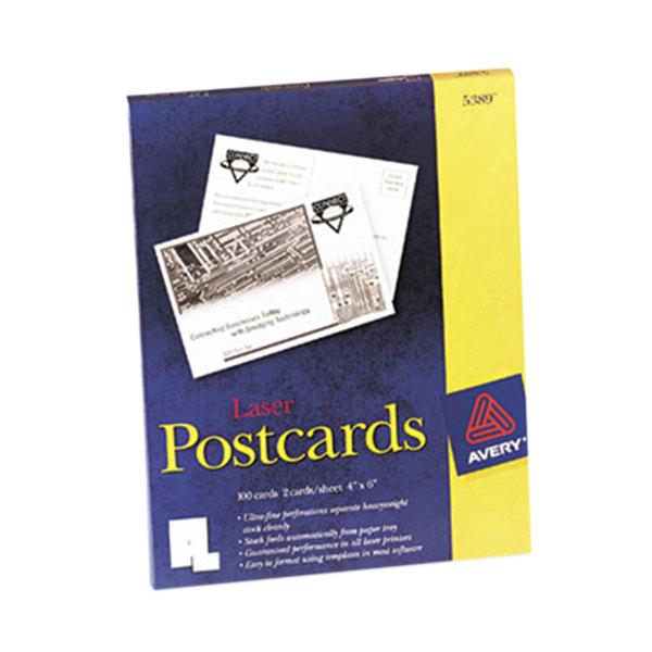 "Avery 5389 4"" X 6"" White Printable Postcards"