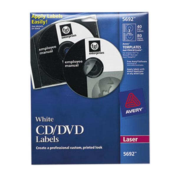avery 8691 matte white cd labels