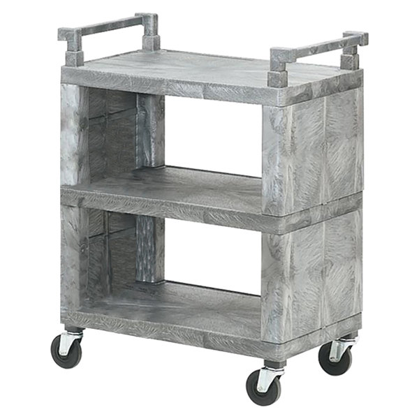 Vollrath 97111 3 Shelf Closed-End Utility Cart - 200 lb. Capacity