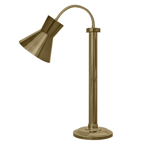 Hanson Heat Lamps SLM/300/ST TXT BRSS Textured Brass Flexible Single Bulb Freestanding Heat Lamp