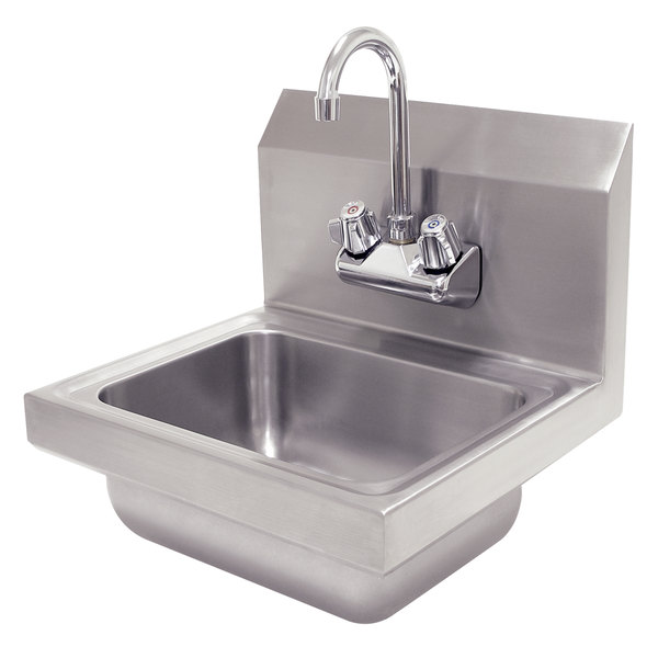"Advance Tabco 7-PS-EC 17 1/4"" x 15 1/4"" Economy Hand Sink with Splash Mount Faucet"