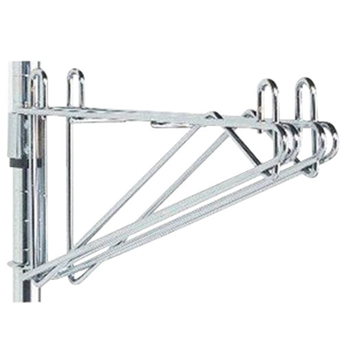 "Metro 2WS24S Post-Type Wall Mount Shelf Support for Adjoining Super Erecta Stainless Steel 24"" Deep Wire Shelving"