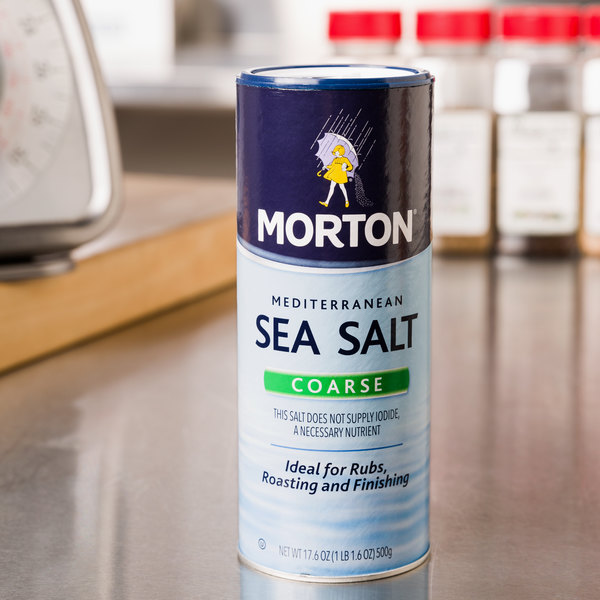 Morton 17.6 oz. Mediterranean Coarse Sea Salt - 12/Case