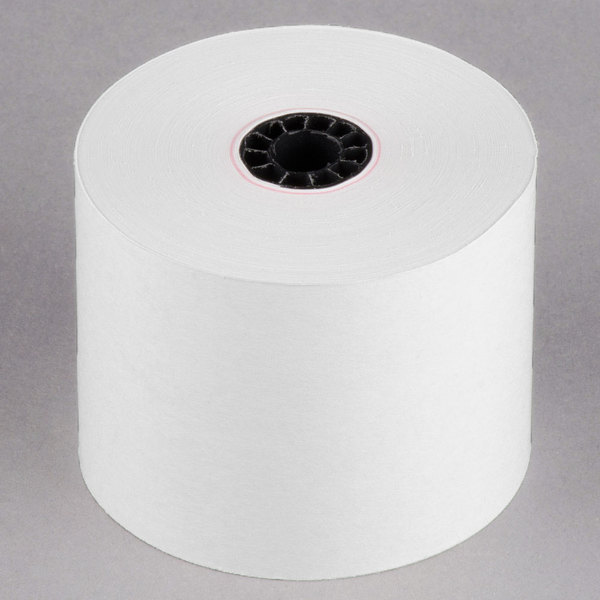 "2 1/4"" x 150' Traditional Cash Register POS Paper Roll Tape - 50/Case"