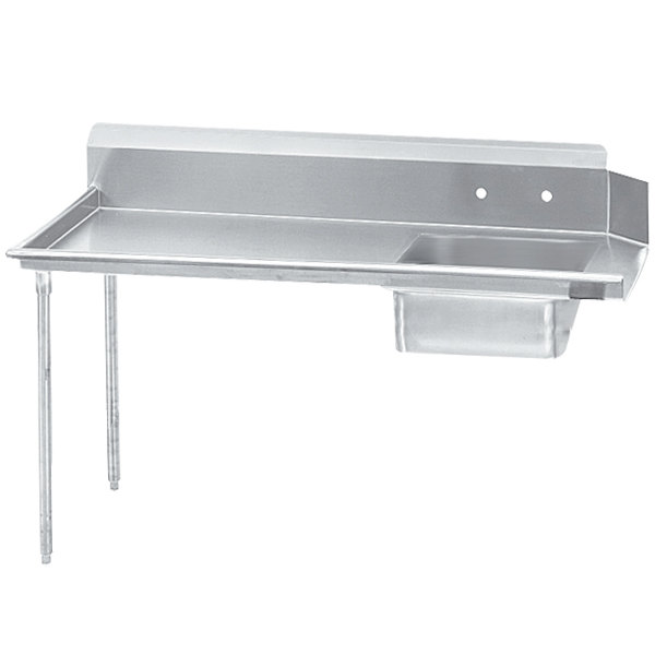 Left Drainboard Advance Tabco DTS-S60-72 Super Saver 6' Stainless Steel Soil Straight Dishtable