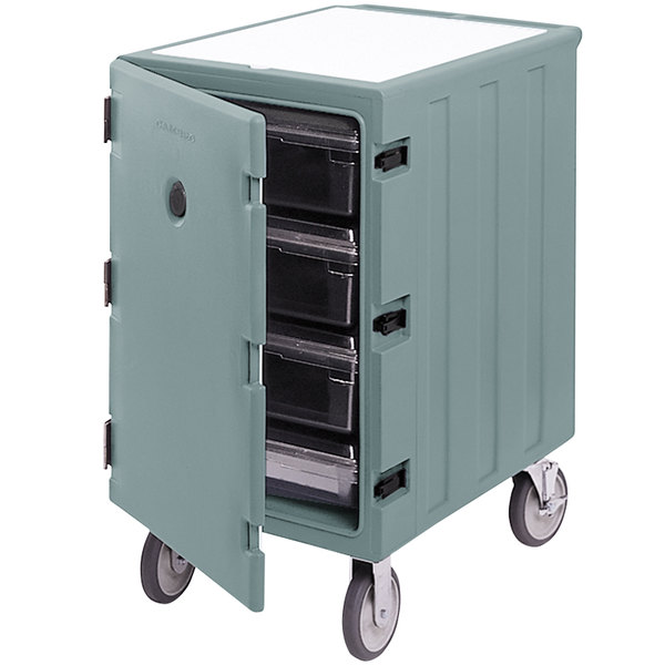 "Cambro 1826LBC401 Camcart Slate Blue Single Compartment Mobile Cart for 18"" x 26"" Food Storage Boxes"