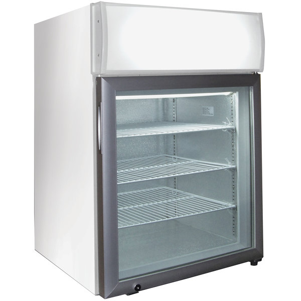 Excellence CTF-2MS White Countertop Display Freezer with Swing Door - 1.8 cu. ft.