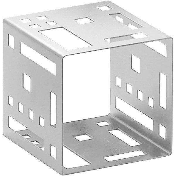 "Cal-Mil 1607-7-55 7"" Stainless Steel Squared Cube Riser"