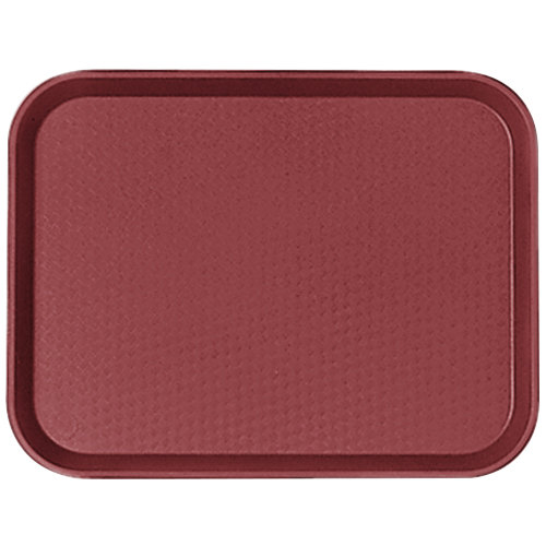 "Cambro 1418FF416 14"" x 18"" Cranberry Customizable Fast Food Tray - 12/Case"