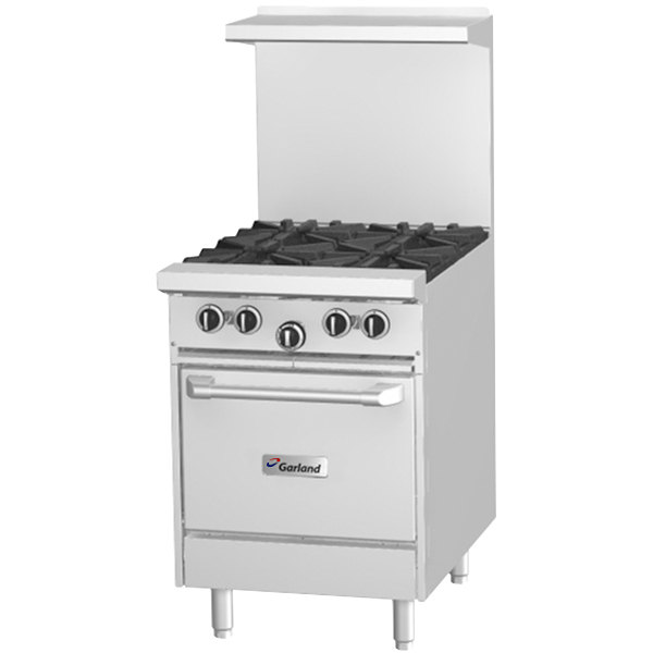 Garland G24 G24l Natural Gas 24 Range With Griddle And E Saver Oven 68 000 Btu