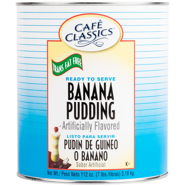 Cafe Classics Trans Fat Free Banana Pudding #10 Can - 6/Case