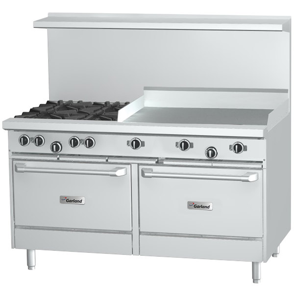 garland natural gas burner range griddle standard ovens 36 inch with reviews kenmore accessory ge monogram cooktop