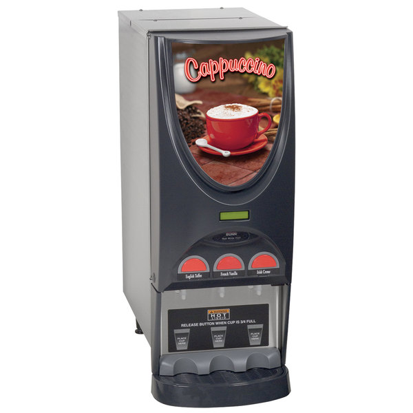 Bunn 36900.0001 iMIX-3 SST Powdered Cappuccino Dispenser with 3 Hoppers - 120V