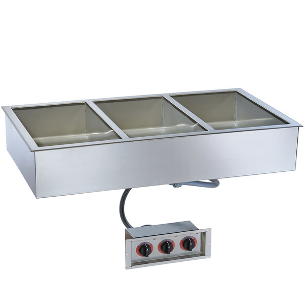"Alto-Shaam 300-HW/D6 Three Pan Drop In Hot Food Well - 6"" Deep Pans, 240V"