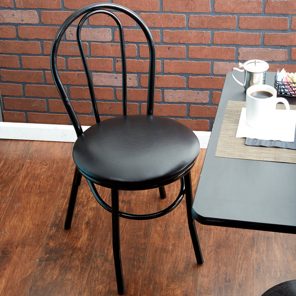Cool Lancaster Table Seating Black Hairpin Cafe Chair With 1 1 4 Padded Seat Creativecarmelina Interior Chair Design Creativecarmelinacom