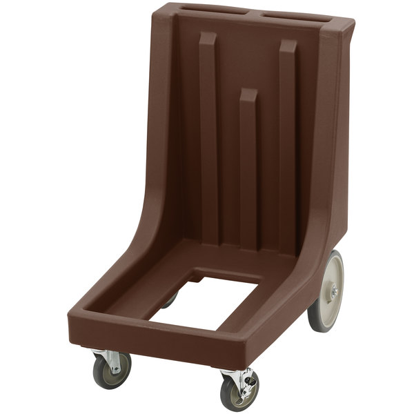 Cambro CD100HB131 Dark Brown Camdolly for Cambro Camcarriers and Camtainers with Handle & Rear Easy Wheels