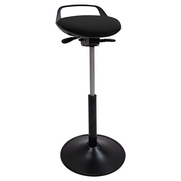 Fine Alera Plus Alesq600 Black Adjustable Perch Sit Stool With Base Cjindustries Chair Design For Home Cjindustriesco
