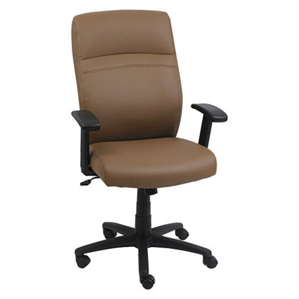 Alera ALECA4159 Taupe HighBack Leather Office Chair with