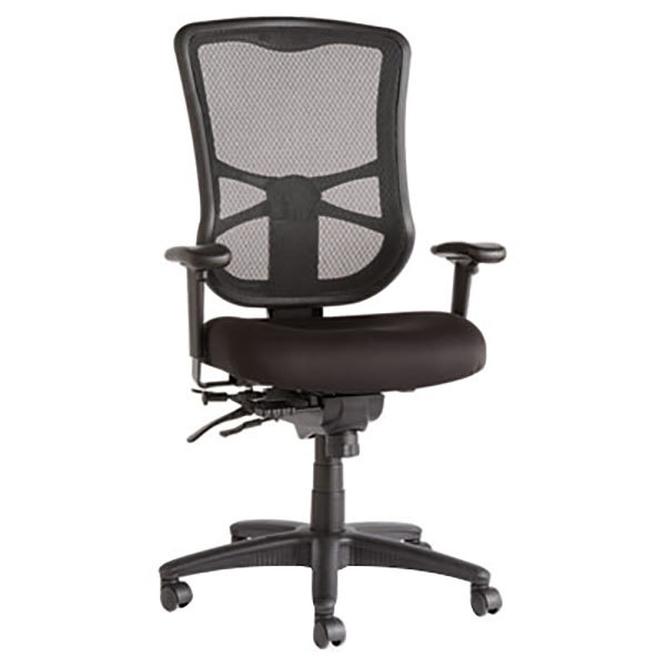 Office Chairs Adjustable Arms alera aleel41me10b elusion high-back black multifunction mesh