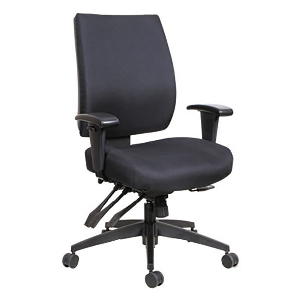 ... Fabric Office Chair With Adjustable Arms And Black. Main Picture