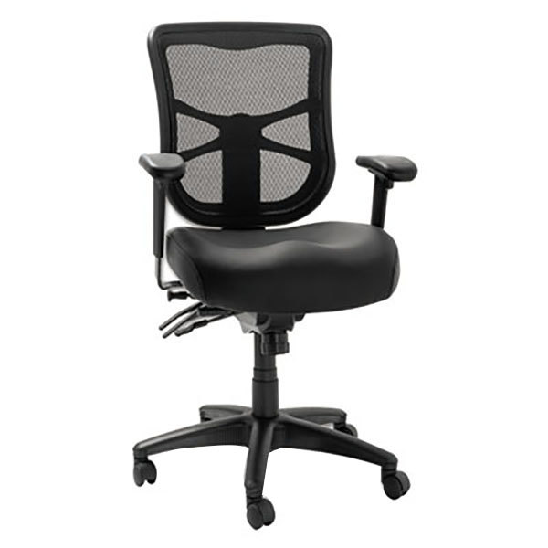 Alera Elusion Black Mid Back Multifunction Mesh Office
