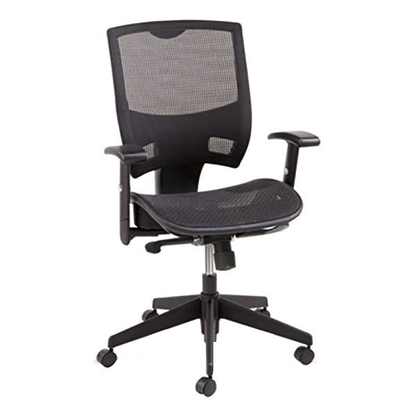 Office Chairs Adjustable Arms aleep4218 epoch black mid-back multifunction suspension mesh