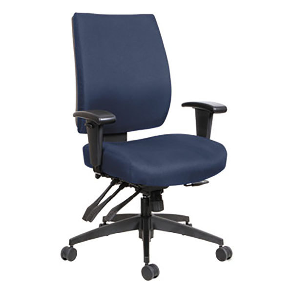 Office Chairs Adjustable Arms alehpm4202 wrigley mid-back multifunction blue fabric office chair