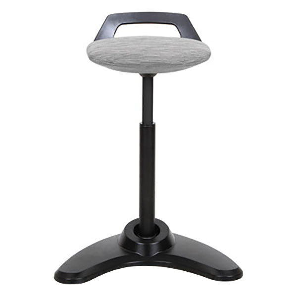 Alera Aleae35psgr Gray Sit To Stand Perch Stool With Black