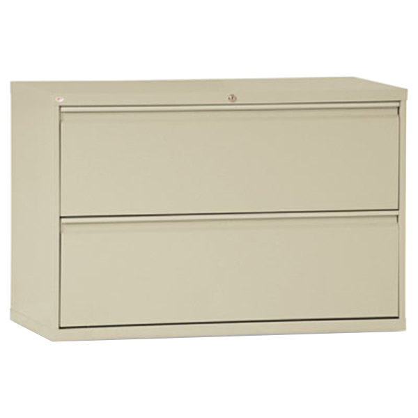 Alera ALELF4229PY Putty Two-Drawer Metal Lateral File Cabinet - 42 ...
