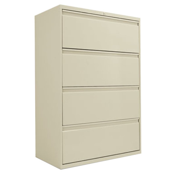 Alera ALELF3654PY Putty Four-Drawer Metal Lateral File Cabinet ...