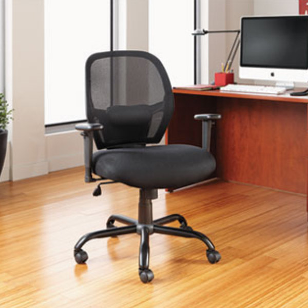 alera alemx4517 merix black midback big u0026 tall mesh office chair with adjustable arms and black