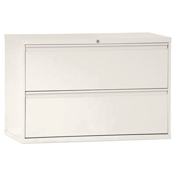 Alera ALELF4229LG Light Gray Two Drawer Metal Lateral File Cabinet   42