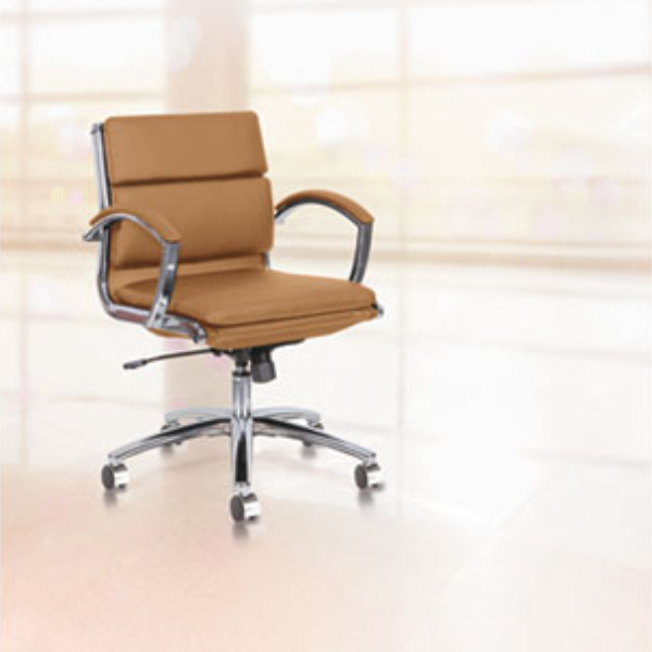 alera alenr4759 neratoli low-back camel leather office chair with