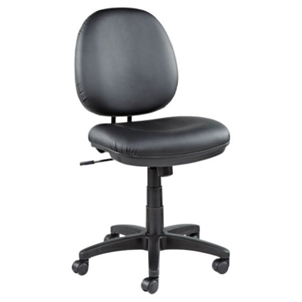 ... Leather Office Chair With Black Swivel Nylon Base. Main Picture ...
