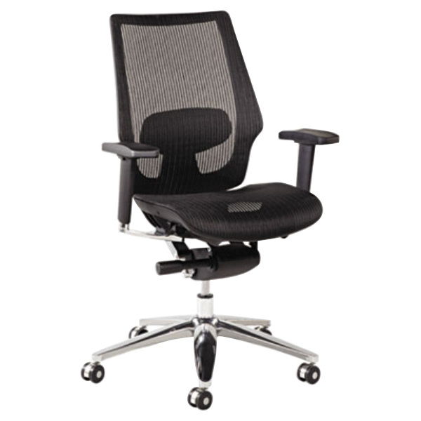 Alera ALEKE4218 K8 Series Black Suspension Mesh Office Chair with