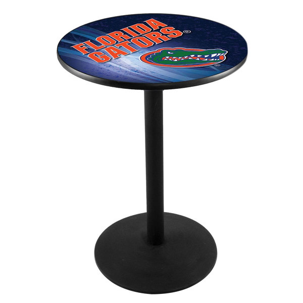 "Holland Bar Stool L214B3628FLORUN-D2 28"" Round University of Florida Pub Table with Round Base"