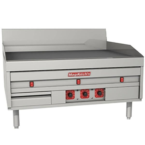 "MagiKitch'n MKE-60-E 60"" Electric Countertop Griddle with Thermostatic Controls - 208V, 1 Phase, 28.5 kW"