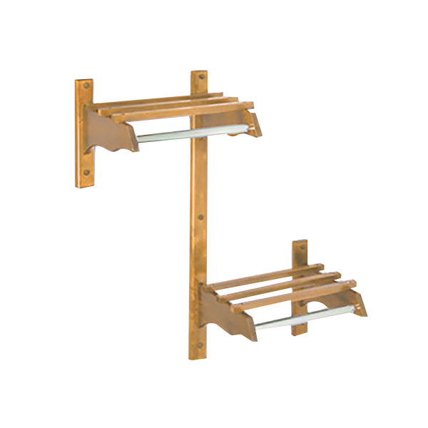 "CSL TJFADA-36-L 36"" ADA Series Light Oak Hardwood Top Bars Wall Mount Coat Rack with 1"" Hanging Rod"