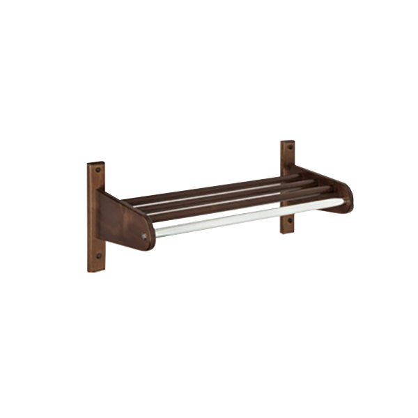 "CSL TFXWMB-3742 42"" Cherry Mahogany Hardwood Top Bars Wall Mount Coat Rack with 5/8"" Metal Hanging Rod"